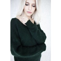 VANESSA KNIT DARK GREEN - SWEATER