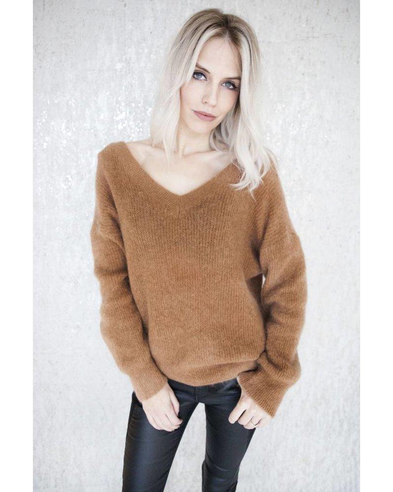 VANESSA KNIT CAMEL - SWEATER