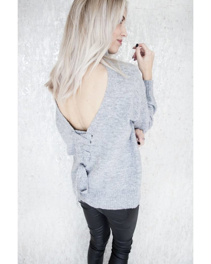 LACED UP BACK GREY - TRUI