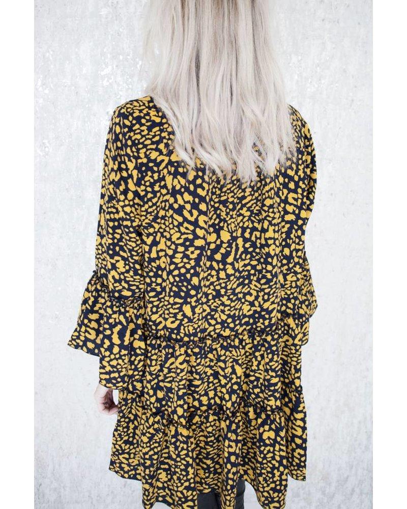 WILD SPOTS MUSTARD - DRESS