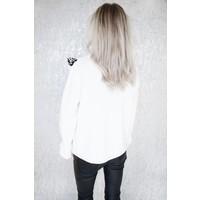 CUTE LEOPARD WHITE - SWEATER