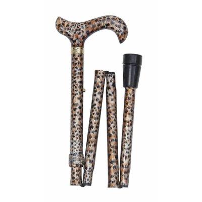 Classic Canes Opvouwbare wandelstok Cheeta