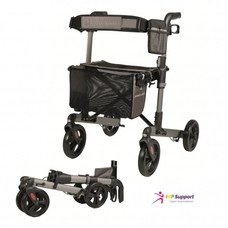 TRACK dubbel opvouwbare rollator - Antraciet