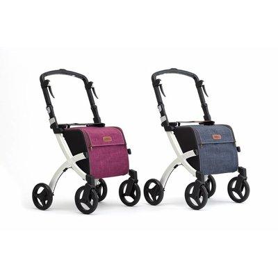 Rollz Rollz Flex Shopper rollator met paarse tas