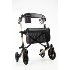 Wheelz Ahead TRACK dubbel opvouwbare rollator - Champagne goud