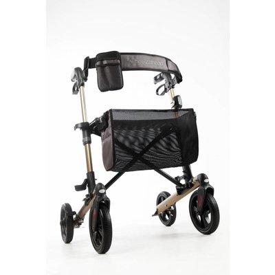 Wheelz Ahead TRACK dubbel opvouwbare rollator- Champagne goud