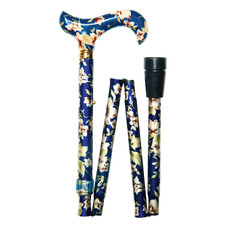 Classic Canes Opvouwbare wandelstok Blauwe bloemen