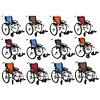 Excel G-Logic handbewogen transport rolstoel -Zwart