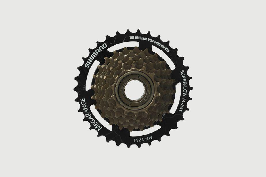 SHIMANO - Freewheel (multiple), MF-TZ31  7-SPEED, SHIMANO (14 - 34T) (for Bisou)