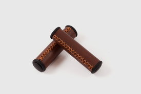 Velo - Grip in brown with bar-end caps