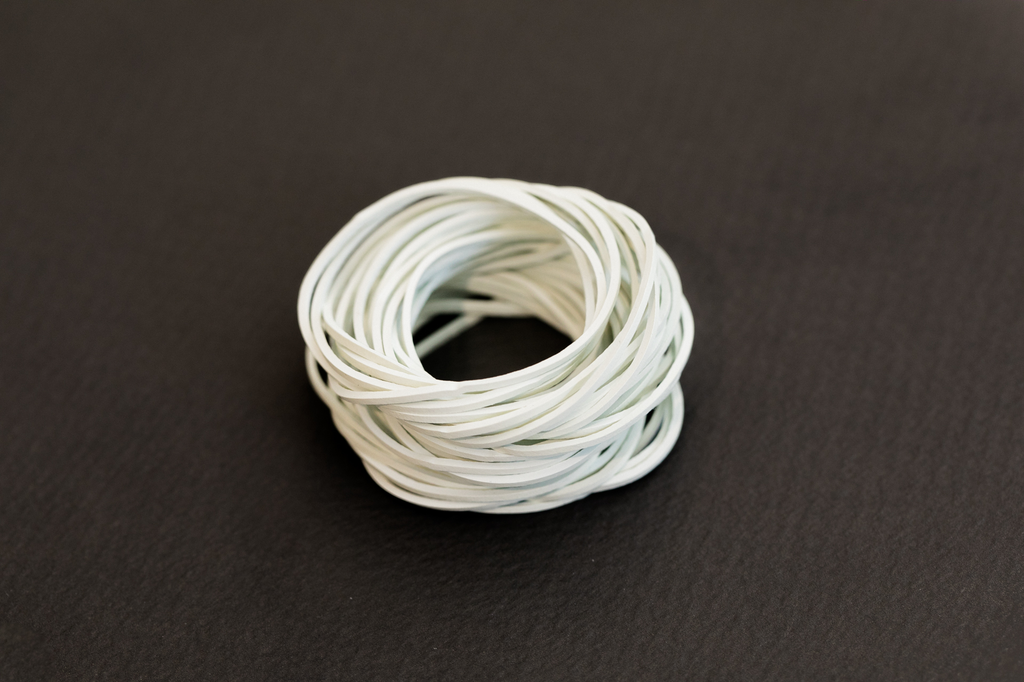 Rubber bands, White, 500g