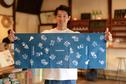 tokyobike x Kamawanu tokyobike x Kamawanu - Tenugui, Japanese hand towel, Navy