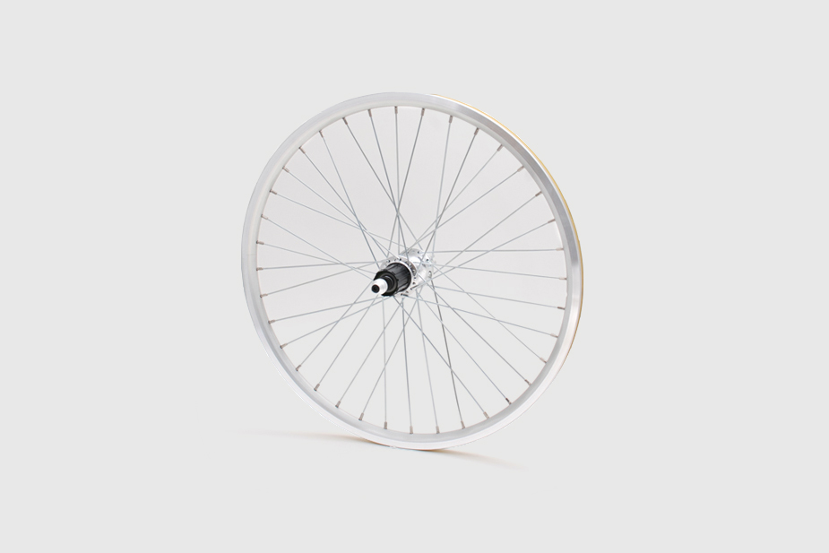 JALCO - Rear Wheel, R500 20 x 1-1/8, 36H, Silver / Silver (Mini Velo)