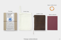 Traveler's TRAVELER'S notebook, Passport size, Leather, Brown