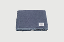 Kontex - Cotton and wool chambray Throw blanket, blue grey