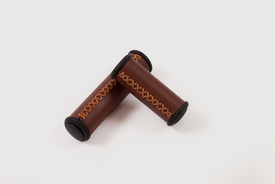 Velo - Grip in brown with bar-end caps (Grip shift)