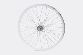 650c Rear Wheel,  White (Deep) - Single Speed