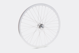 650c Front Wheel,  White (Deep) - Single Speed