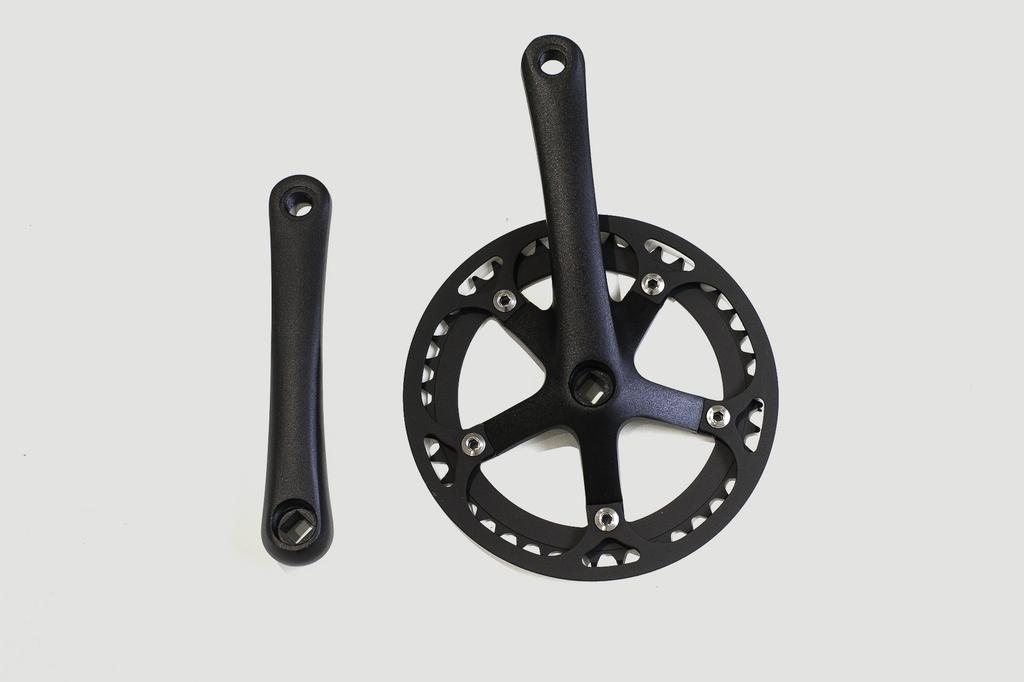 Lasco LASCO - Crank set 42T 170mm Black/Black/Black (Sport)