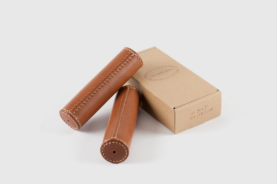 Trunk Trunk - Leather grips in Honey 125mm