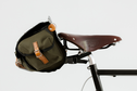 Carradice - Saddlebag, Barley, Honey / Green (28W x 15H x 15D)