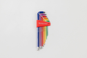 Swiss Tools Swiss Tools - Rainbow Coloured Long Ball Point Hex, Allen Key L-Wrench Set 1.5-10mm