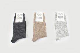 Nishiguchi Kutsushita - cashmere / wool socks