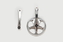 Lasco LASCO - Crank set 46T 165mm Silver/silver hi-polish (For NI, Single Speed)