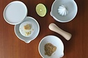 Kihara - SITAKU, Set of 4 pieces (Lid, Gradter, Lemon squeezer, Mortar)