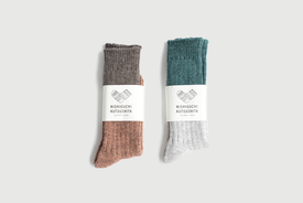 Nishiguchi Kutsushita - Wool Cottons Slab Socks