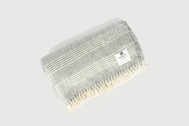 Mcnutt - Alpaca natural stripe blanket
