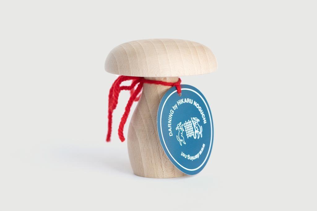 Hikaru Noguchi Darning - Mushroom shaped wooden clothing repair tool