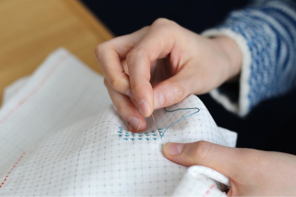Daruma Daruma-Ito Sashiko Cloth