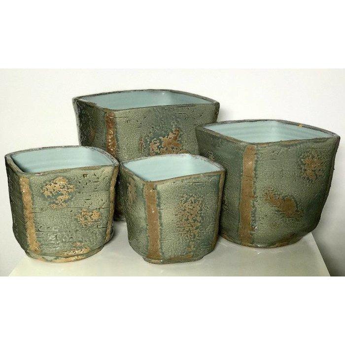 Decopots - Villa Pottery Brugge kaki pot