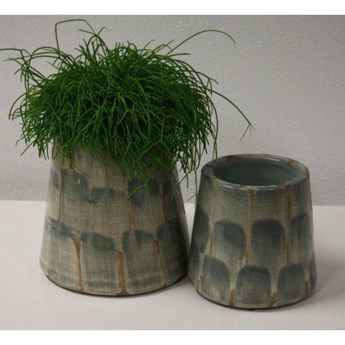 Villa Pottery  Chester Kaki Pot