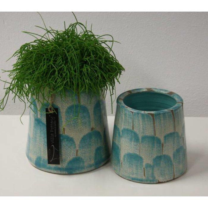 Villa Pottery  Chester oud Blauw Pot