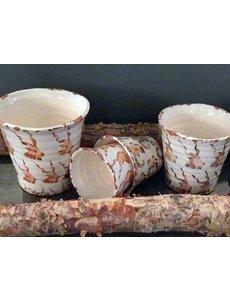 Villa Pottery  Ibex Potten,  set van 4 stuks