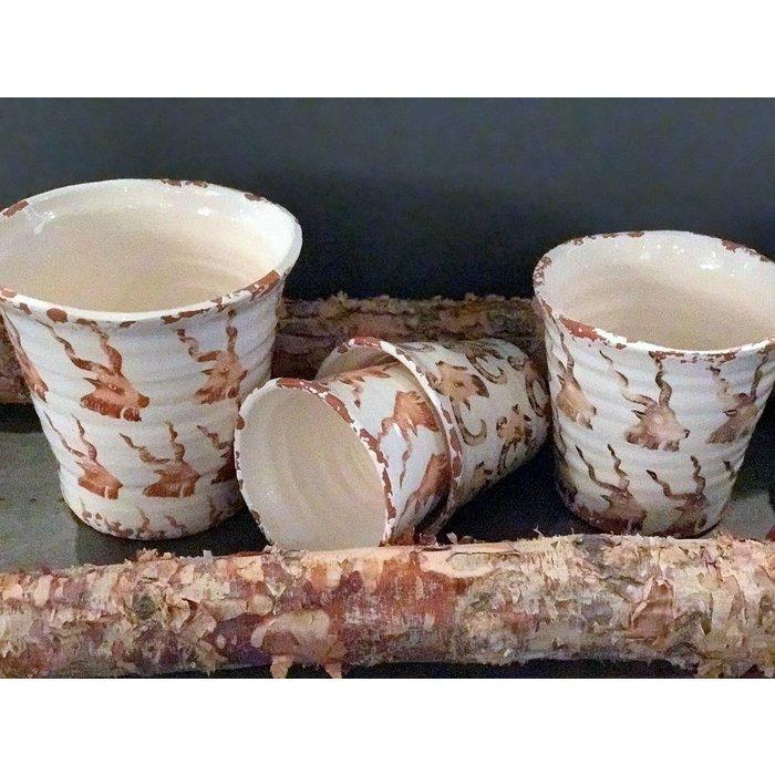 Villa Pottery  Ibex Potten set van 4 stuks