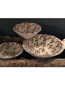 Villa Pottery  Ibex schalen / kommen, set van 4