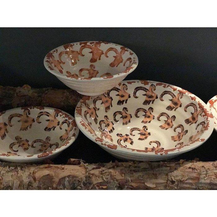 Villa Pottery  Ibex schalen/kommen, set van 4