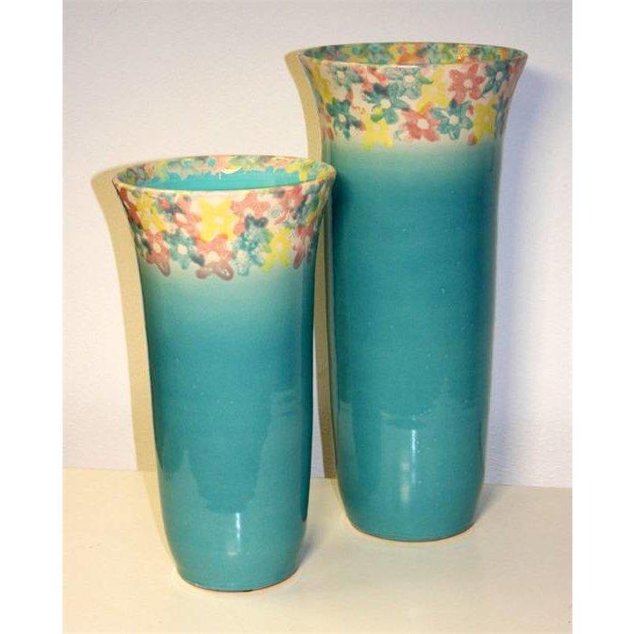 Villa Pottery  Campanula Turquoise Lange Pot