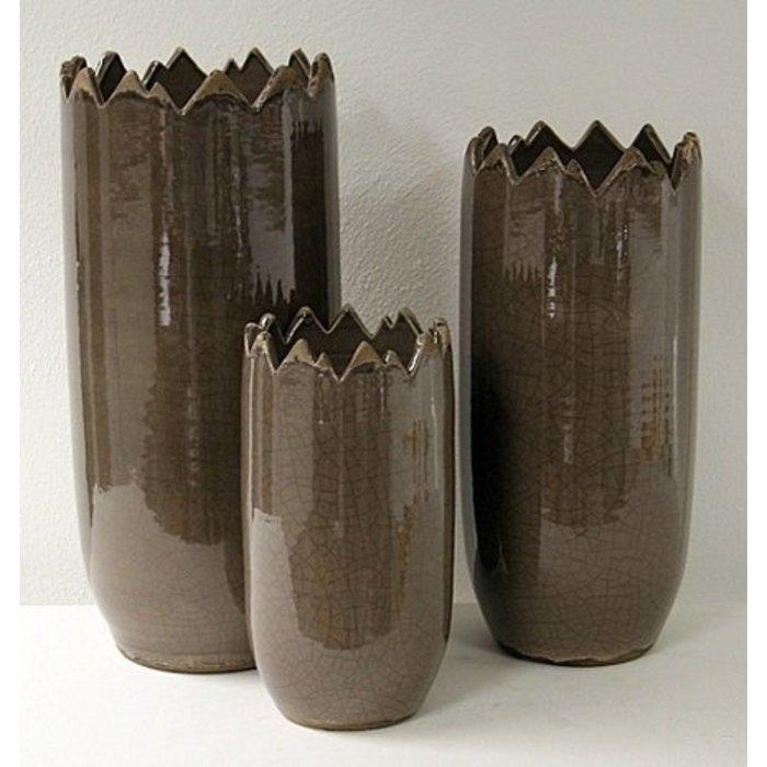 Villa Pottery  Peak Collection Taupe Vaas