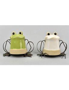 Villa Pottery  Hanging Frog Skip 4_2 SET/2