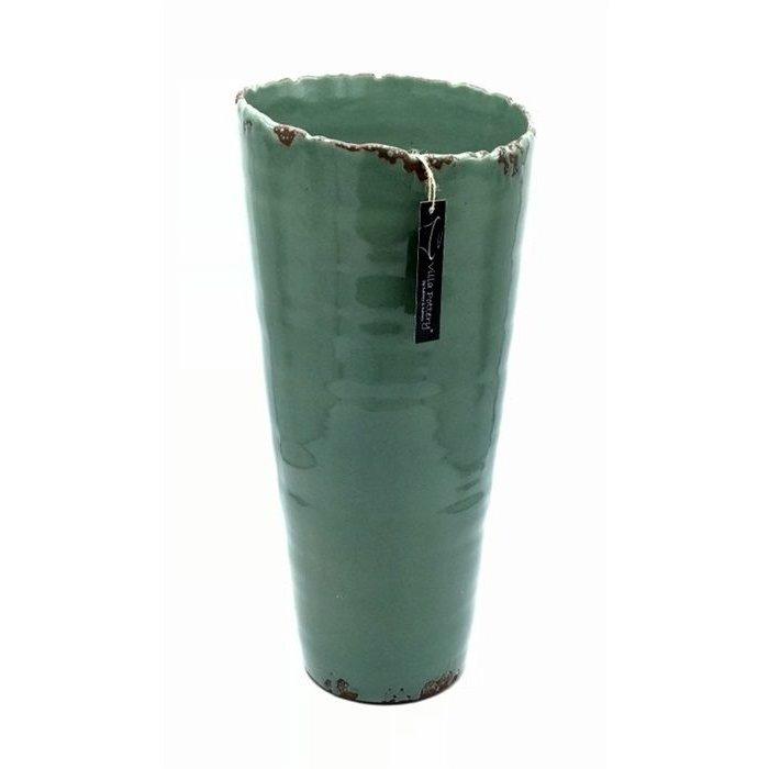 Villa Pottery  Groene Vaas Pesso 20x45