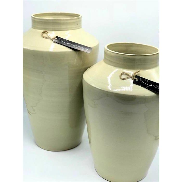 Villa Pottery  Grote Beige - Grijze Vaas Oskar