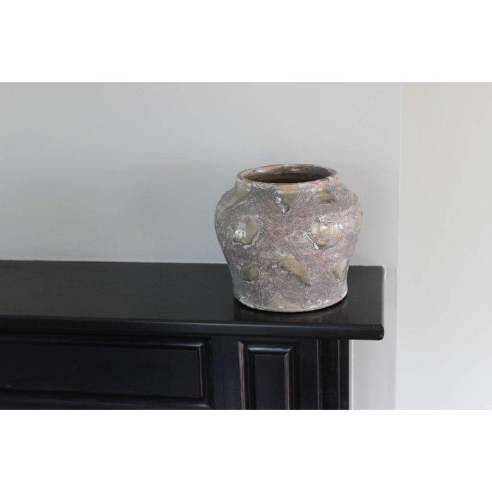 Villa Pottery  Bruin / Groene Pot - Zurich