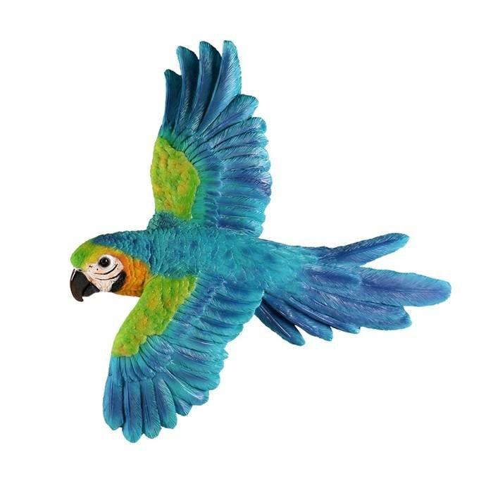 Villa Pottery  Hangende Blauwe Papegaai Vogel