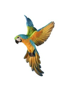 Villa Pottery  Hangende Gekleurde Papegaai Vogel