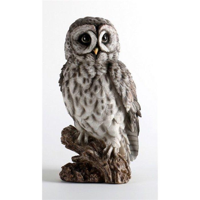 Decopots - Villa Pottery Grijze Uil op tak 16x31