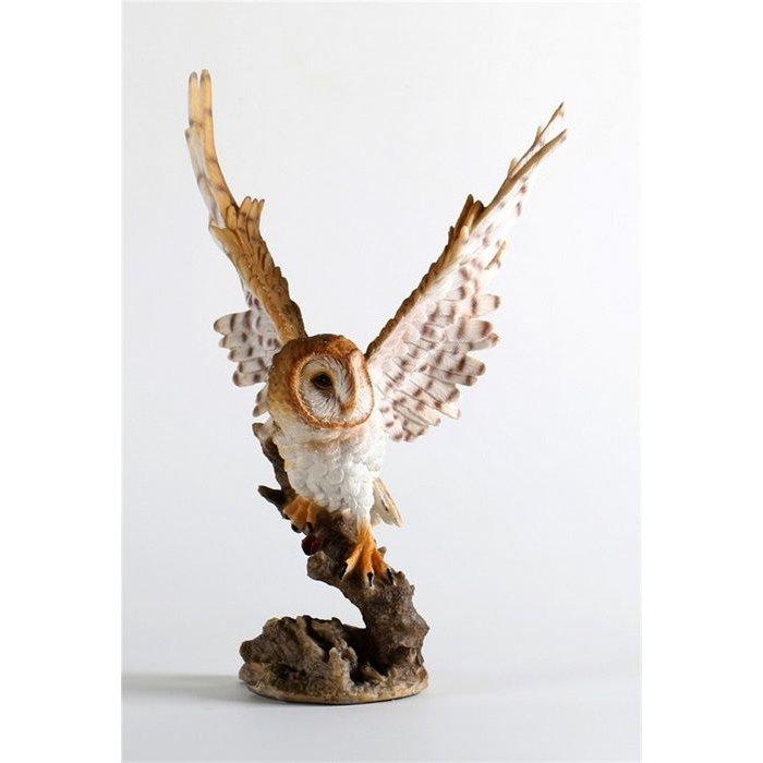 Decopots - Villa Pottery Wit/Bruin Uil op tak